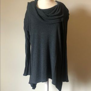 Cowl necked tunic sweater
